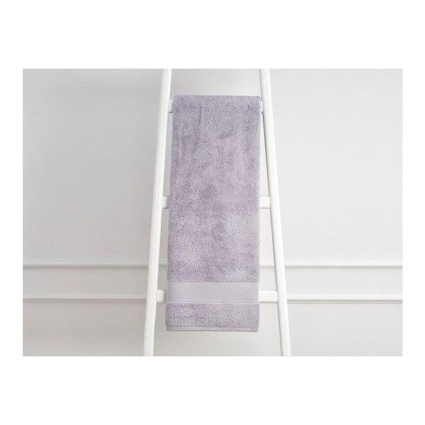 Fialový bavlněný ručník Elone, 70 x 140 cm