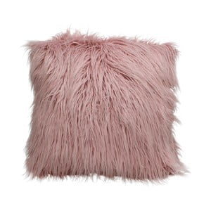 Růžový chlupatý polštář HF Living Fluffy, 45x45cm