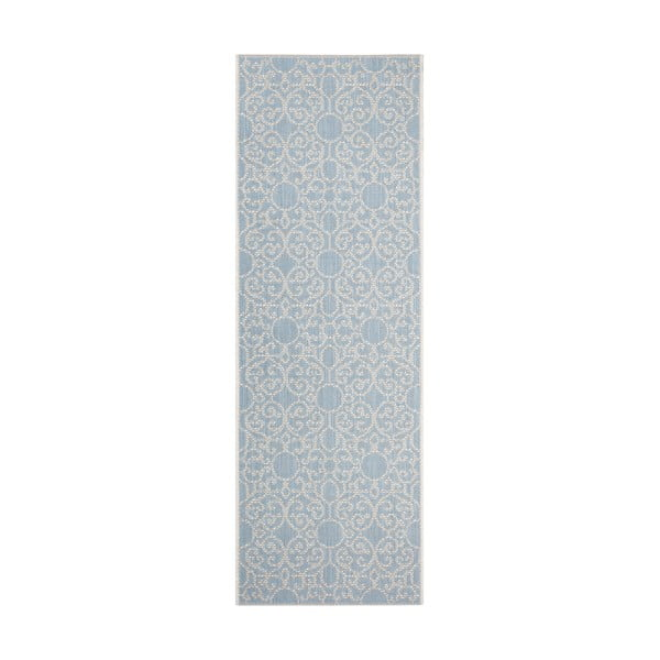 Covor potrivit pentru exterior Bougari Nebo, 70 x 200 cm, bej - albastru