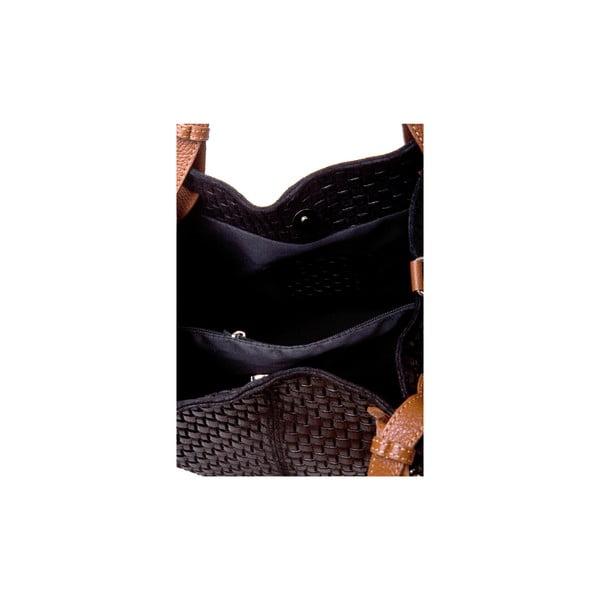 Černá kožená kabelka Massimo Castelli Marziale