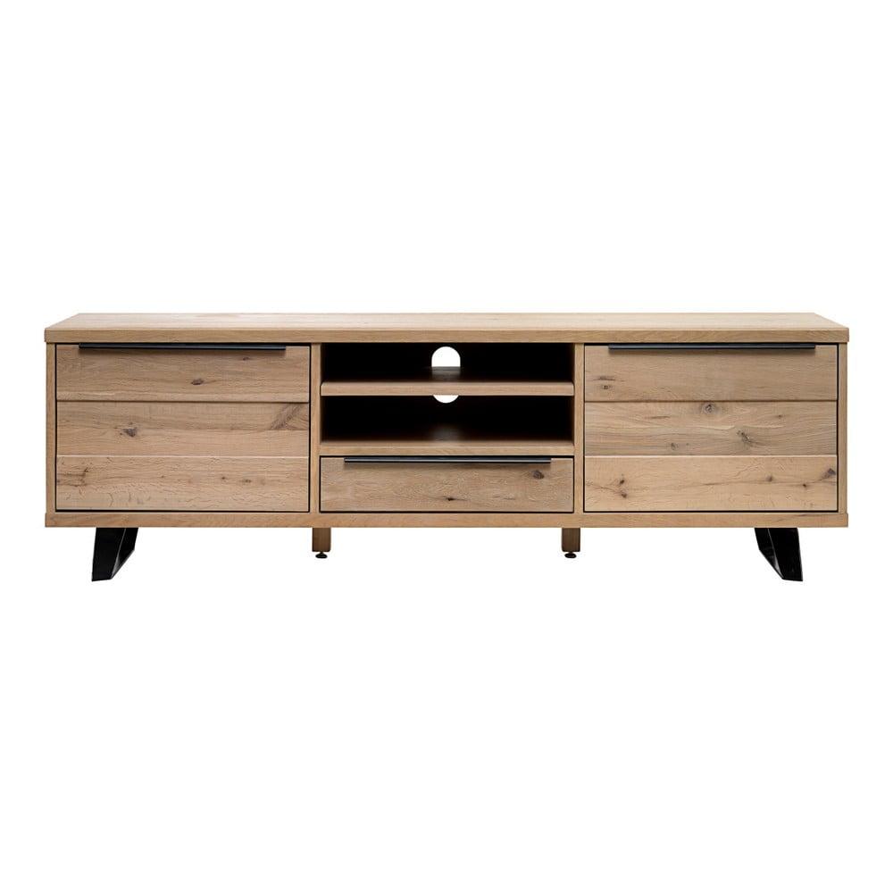 TV stolek ze dřeva bílého dubu Unique Furniture Novara