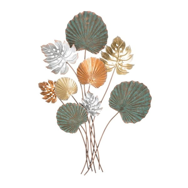 Železná nástenná dekorácia s motívmi listov Mauro Ferretti Lop, výška 99 cm