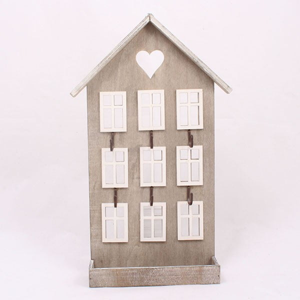 Dřevěný věšák Hnědý domek