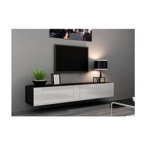 TV stolek Igo, bílá/černá