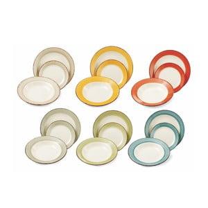 Sada porcelánových talířů Chianti, 18 ks