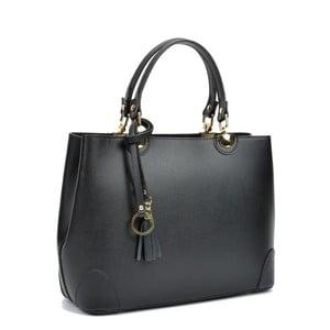 Černá kožená kabelka Isabella Rhea London Nero