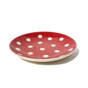 Puntíkatý dezertní talíř Red Assiette