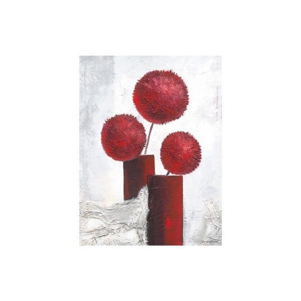 Obraz na plátně Red Pompons 60x80 cm