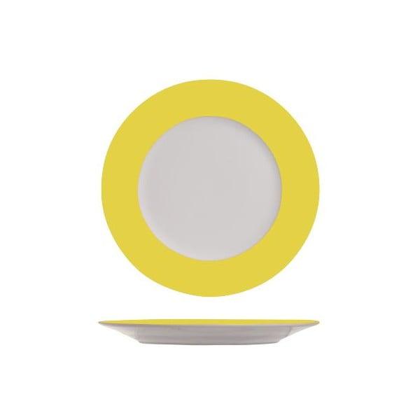 Set čtyř dezertních talířků, 19 cm, žlutá