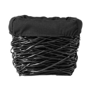 Černý úložný koš z vrbového proutí Compactor Crazy, šířka30cm