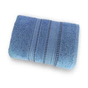 Tmavě modrá osuška ze 100% bavlny Marie Lou Remix, 150 x 90 cm