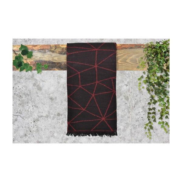 Vínově červený dámský šál s příměsí bavlny Dolce Bonita Sky, 170 x 90 cm