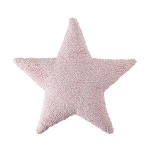 Pernă din bumbac lucrată manual Lorena Canals Star, 54 x 54 cm, roz
