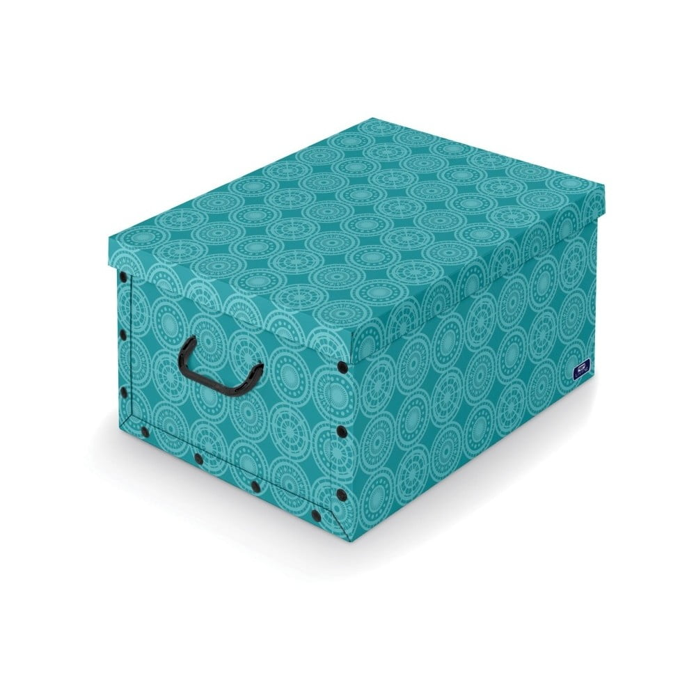 Tyrkysový úložný box Domopak Ella, délka 50 cm