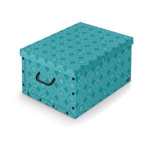 Tyrkysový úložný box Domopak Ella, délka50cm