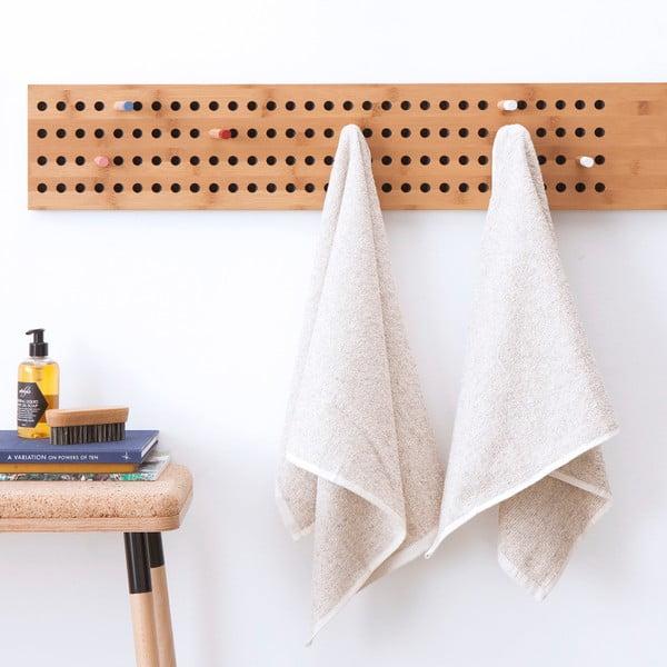 Sada 2 krémových froté ručníků Casa Di Bassi Stripe, 50x90cm