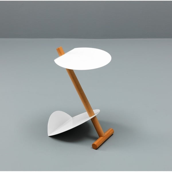 Bílý odkládací stolek Design Twist Lake