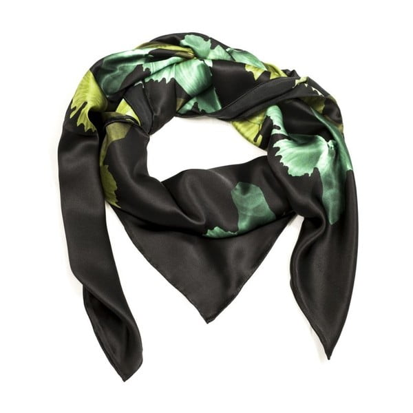 Hedvábný šátek Hirst Navy, 130x130 cm