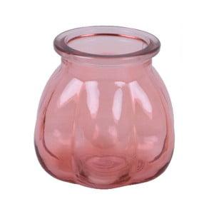 Růžová váza z recyklovaného skla Ego Dekor Tangerine, výška 11 cm