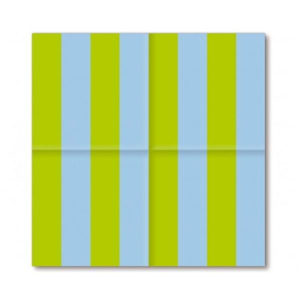 Barevné ubrousky Spring Stripes, 40 ks