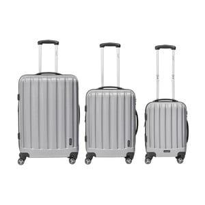 Sada 3 světle šedých cestovních kufrů Packenger Traveller