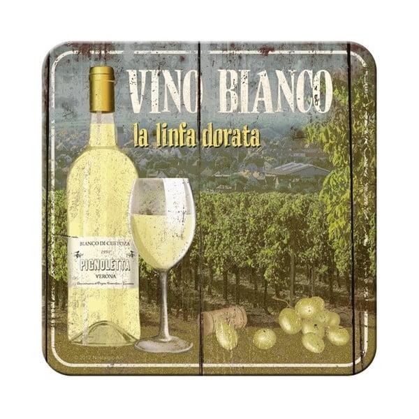 Sada 5 podtácků Postershop Vino Bianco