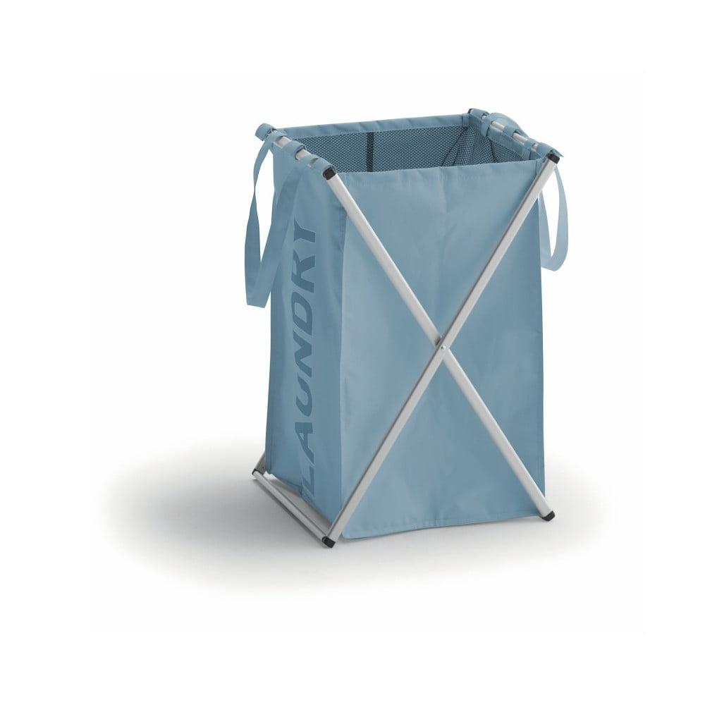 Modrý koš na prádlo s hliníkovou konstrukcí Cosatto