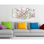 Pětidílný obraz Jemnost, 110x60 cm