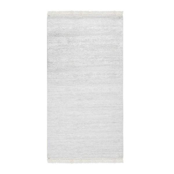 Šedý sametový koberec Deri Dijital, 160x230cm