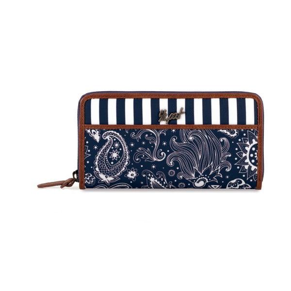 Modro-bílá peněženka SKPA-T, 19 x 9 cm
