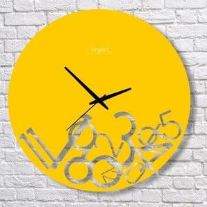 Nástěnné hodiny Yellow Confusion