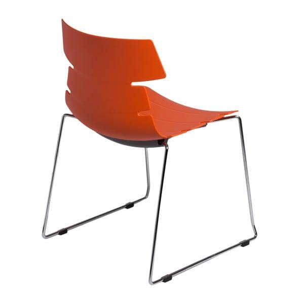 Sada 2 oranžových židlí D2 Techno