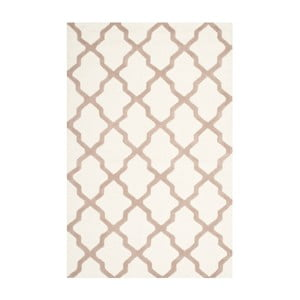 Vlněný koberec Safavieh Ava White Beige, 274 x 182 cm