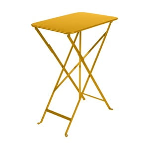 Žlutý zahradní stolek Fermob Bistro, 37 x 57 cm