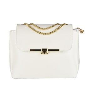 Bílá kožená kabelka Matilde Costa Salem