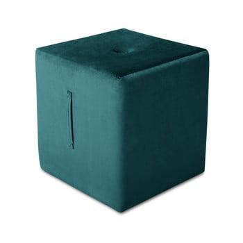 Puf Mazzini Sofas Margaret, 40 x 45 cm, albastru petrol de la Mazzini Sofas