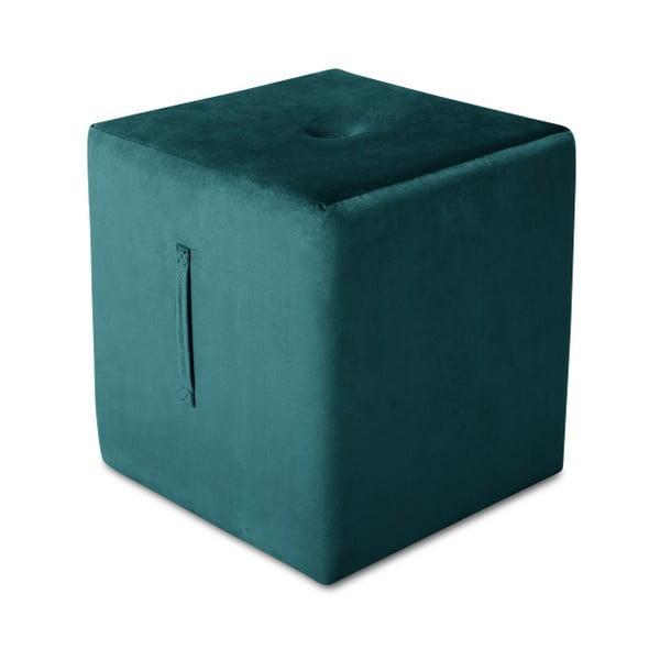 Puf Mazzini Sofas Margaret, 40 x 45 cm, albastru petrol