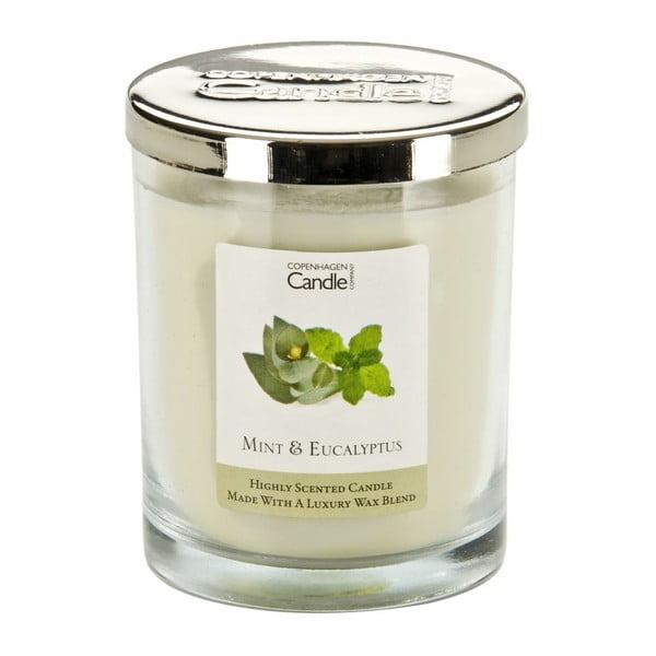 Aroma svíčka Copenhagen Candles  Mint & Eucalyptus, doba hoření 40 hodin