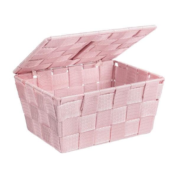 Coș cu capac Wenko Adria, roz