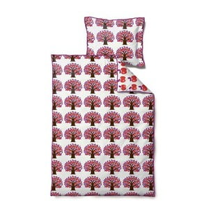 Povlečení Jubilee Tree Pink, na jednolůžko (100x140 cm)