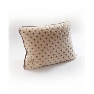 Vlněný hnědý polštář Royal Dream Camel Dots, 40x70 cm