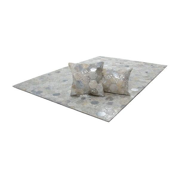 Koberec z pravé kůže Dazzle 400 Light, 80x150 cm