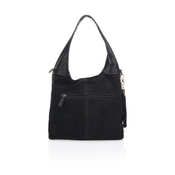 Černá kožená kabelka Lisa Minardi Eleanora