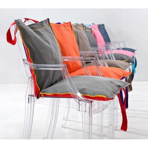 Skládací sedák Hhooboz 100x50 cm, červený