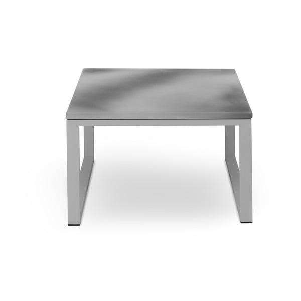 Masă adecvată pentru exterior, în decor de beton Calme Jardin, lungime 60 cm, gri - gri