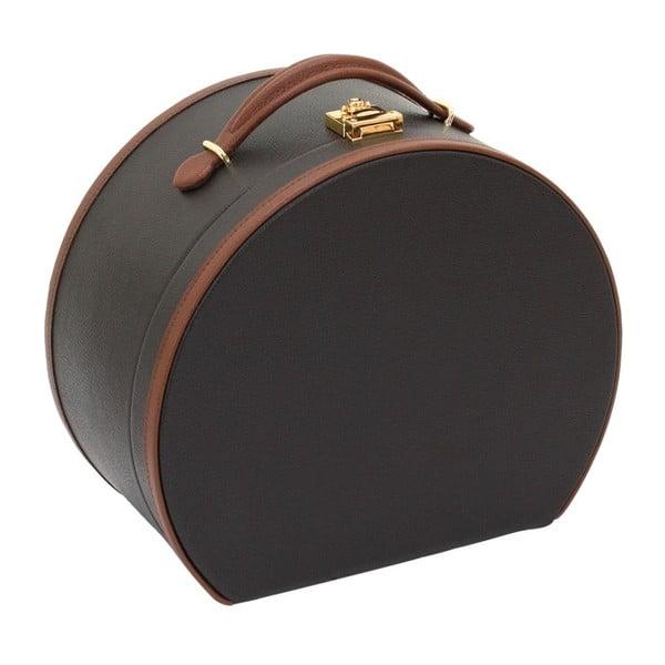 Hnědá šperkovnice/kosmetický kufřík Friedrich Lederwaren Ascot