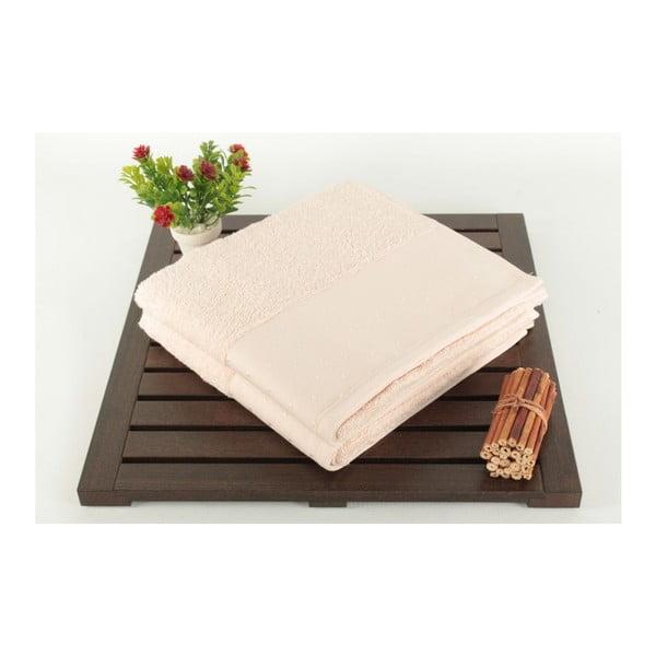 Patricia 2 részes púderrózsaszín kéztörlő szett 100% pamutból, 50 x 90 cm