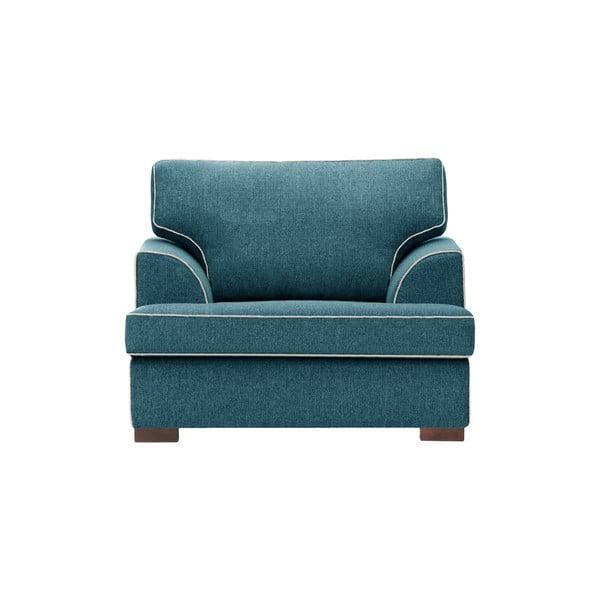 Turkusowy fotel z kremowym wykończeniem Rodier Ferrandine