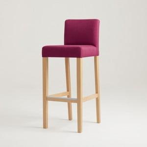 Scaun bar cu picioare de culoare naturală, Custom Form Wilton, roz