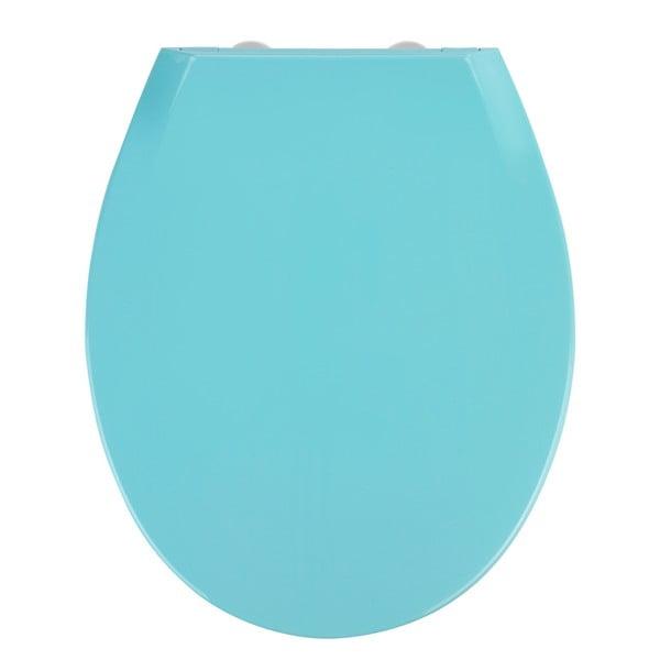 Modré WC sedátko se snadným zavíráním Wenko Kos, 44 x 37 cm